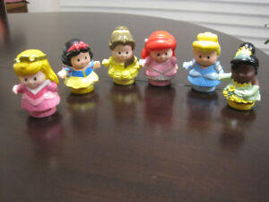 6 FISHER PRICE LITTLE PEOPLE PRINCESSES