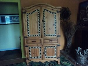 MEXICAN PINE ARMOIRE