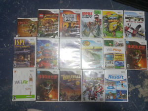 Wii games $10.00 each
