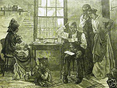 Black Americana Jury Duty 1878 Legal Law Print Matted