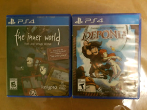 PlayStation 4 PS4 Games The Inner World + Deponia