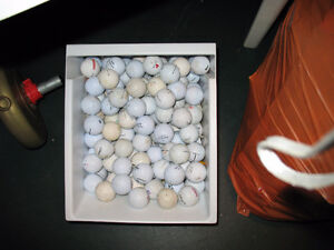 CONTAINER OF MISC USED GOLF BALLS ---APPROX. 175 BALLS
