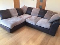 NEW CORD CORNER SOFA CAN DLEIVER FREE BARGAIN
