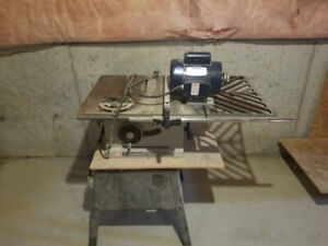 table saw with moter good for shop work asking 200 dollars