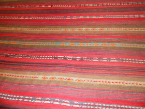 HANDMADE RUG from ISRAEL, 75 x 118 inches