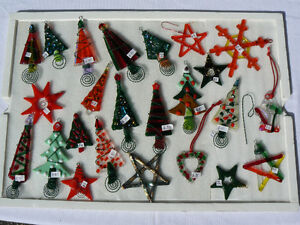 Fused Glass Christmas Ornaments
