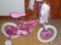 Girls 14 inch Princess Bike **Very Good Condition