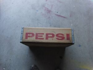 Old Vintage Antique Wooden Pepsi Dr Pepper Crate Niagara Falls