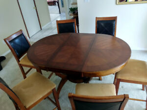 High bar/pub Dining table + 6 chairs