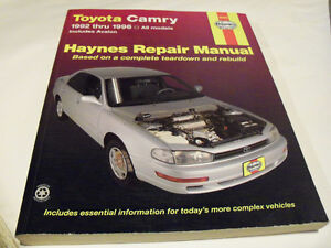 Toyota Camry Service Manual 1992-1996.