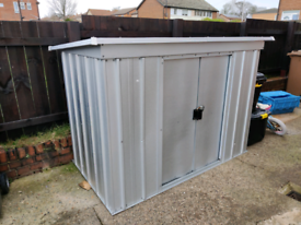 Galvanised Metal Bike / Storage Shed