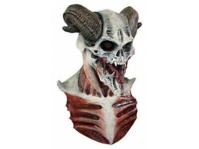 Ram Skull Mask (Ram Horn Hell Gatekeeper Demon Ghoulish DELUXE ADULT LATEX DEVIL SKULL)
