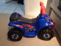 Evo blue/ orange quad bike