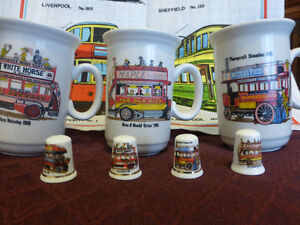 Tram/Steambus Colllection - Tea Towel, Cups and Thimbles Kitchener / Waterloo Kitchener Area image 1