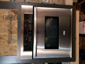 "Whirlpool 30"" wall oven, whirlpool cooktop and Panasonic package"