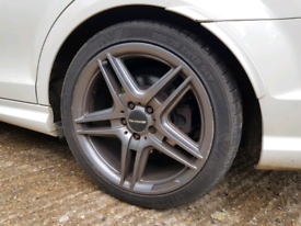 18 Inch Mercedes Amg Type Alloy Wheels & Tyres - clk w204 ce e class s