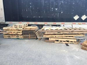 Free pallets and wood, firewood, camping