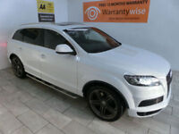 2013,Audi Q7 3.0TDI 204bhp auto quattro S Line Plus***BUY FOR ONLY £120 PER WEEK