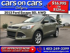 2013 Ford Escape SEL AWD w/EcoBoost, Leather $129 B/W INSTANT AP