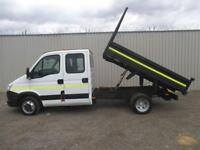 2013 IVECO DAILY 2.3 130 35C13 7 SEATER D/CAB 9 FT STEEL TIPPER **FSH**BUY FROM