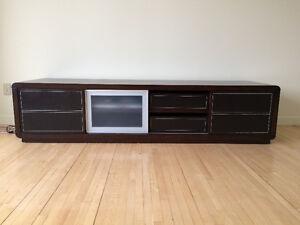 Stylish solid wood TV console - Superbe Meuble TV bois massif!