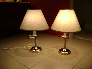 Pair of Grey Table Lamps