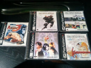 Playstation final fantasy games and street fighter alpha 3