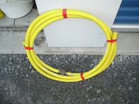 20 ft of 3/4 inch aluminum flex gas line with coupling