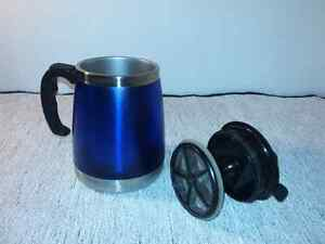 $5 ! ~ French Press Coffee/ Tea Maker Travel Mug