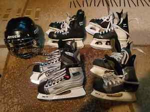 Hockey Skates and Helmet