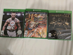 Ufc 3 Dragonball fighter z injustice 2 legendary XBOX ONE SEALED