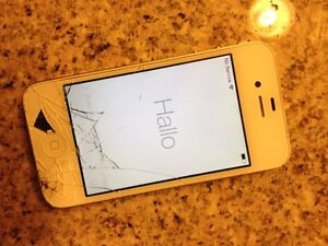 iPhone 4 -  iTunes locked, cracked screen being sold as is