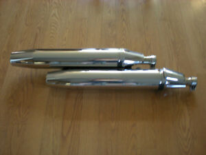Like New MODIFIED Stock V Star 1100 EXHAUST MUFFLERS !!!