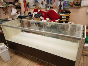 Display cabinets, shelving from store closure