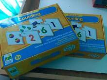 2 boxes of kids counting puzzles in good condition One Mile Ipswich City Preview