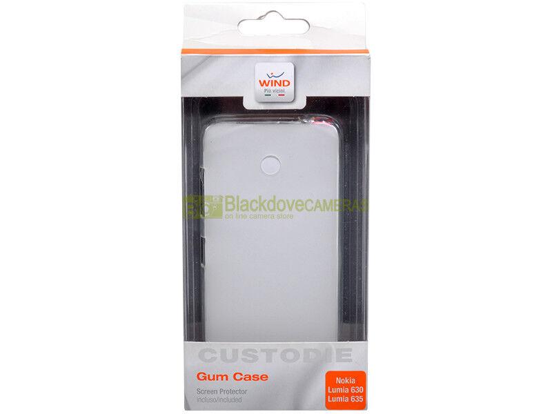 Gum Case per Nokia Lumia 630 e 635. Wind. Cover in gomma trasparente.