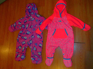THE NORTH FACE,COLUMBIA FLEECE BUNTING SUIT,GIRLS 12 MONTHS
