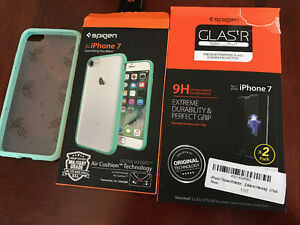 iPhone 7 Case / Air Cushioned Drop + Glass Screen Protector x2