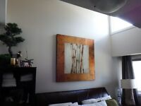 LARGE BAMBOO CANVAS PRINT - LIKE NEW - MOVING SALE!!!