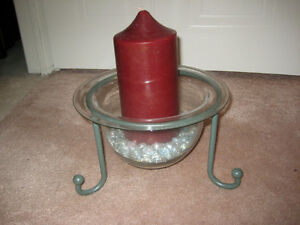 Party Lite Candle Holder with Pillar