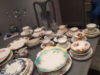 Vintage China tea sets. Plates. Cups saucers. Teapots etc