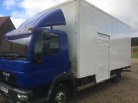 MAN 7500kg 7.5 tonne box lorry with tail-lift