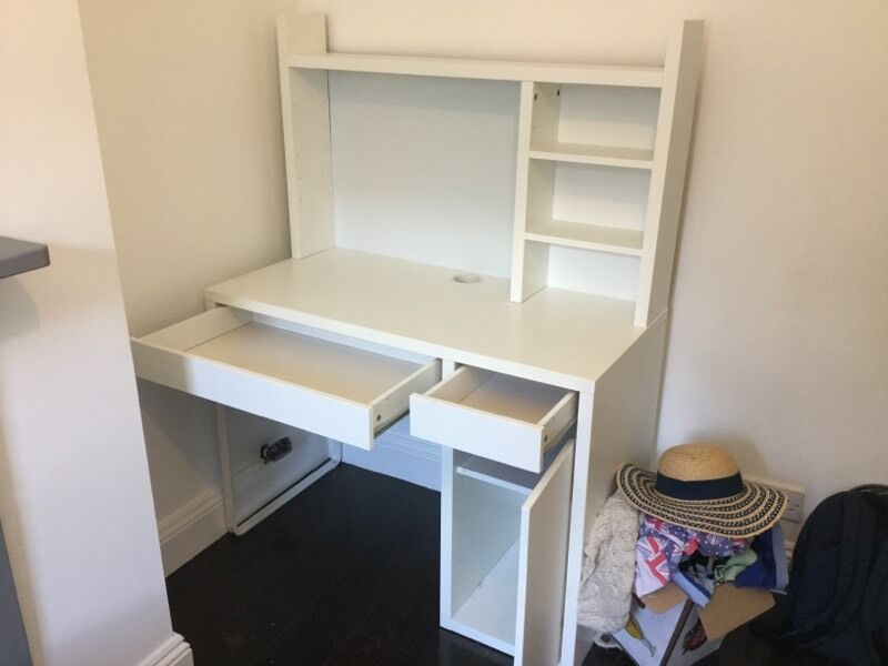ikea micke desk plus shelf addition in greenwich london gumtree. Black Bedroom Furniture Sets. Home Design Ideas