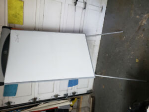 Dry erase board and easel