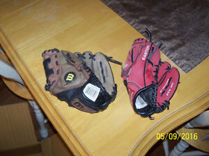 Kids Baseball Gloves for sale for $5 a piece or 2 for $8