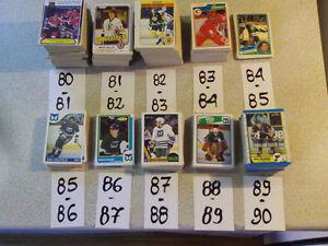 SUPER LOT DE 896 CARTES DE HOCKEY O.P.CHEE DE 1980 A 1990