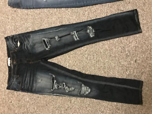 4 pairs ALMOST brand new girls size 09 jeans