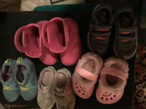 Toddler Girl Shoes/Boots - UA, Vans, Crocs (2-3 yr old)