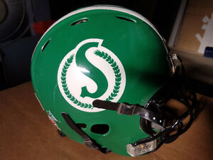 Chris Szarka Game Used Helmet - Saskatchewan Roughriders