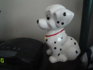 DISNEY DALMATION DOG PIGGY BANK, LIKE NEW!
